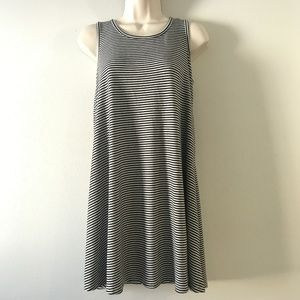 Mossimo Black and White Striped Tank Dress